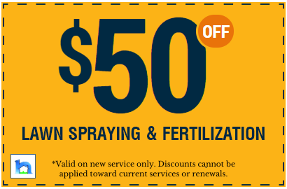 Lawn spraying & fertilization coupon